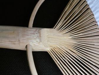 Соединительный узел в бамбуковой конструкции
