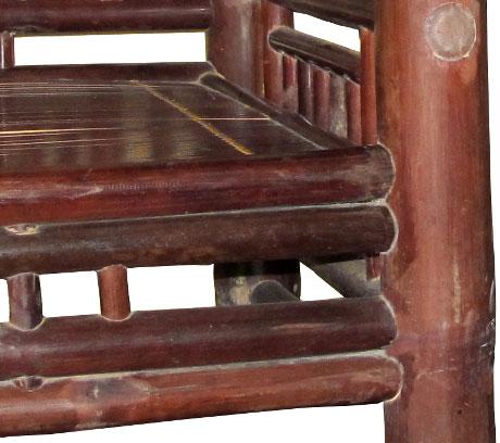 Пример клеевых соединений у старинного бамбукового кресла